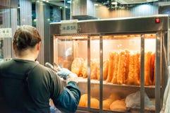 汉语油煎的面包棒(Youtiao, Youqi) 免版税库存图片