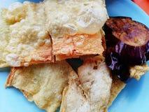 汉语油煎的食物 免版税库存照片