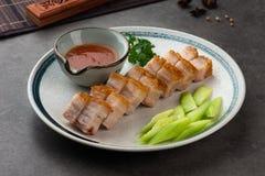 汉语烤酥脆猪肉 库存照片