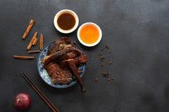 汉语烤鸭子 库存图片