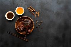 汉语烤鸭子 图库摄影