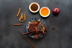 汉语烤鸭子 免版税库存照片
