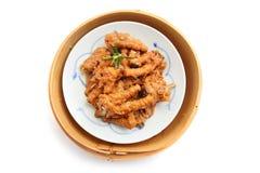汉语煮熟的鸡脚 免版税库存照片