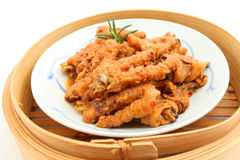 汉语煮熟的鸡脚 库存照片