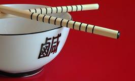 汉语的碗倒空 免版税库存图片