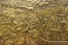 击败汉语的越南国王 库存图片
