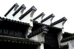 汉语老房子房檐  免版税库存图片