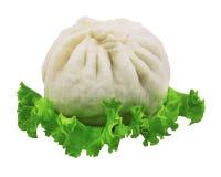 汉语蒸的小圆面包 免版税图库摄影