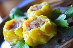 汉语蒸的饺子。 免版税库存图片