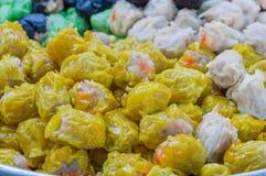 汉语蒸的饺子 库存图片