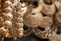 汉语被手工造的银色首饰 库存照片