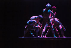 汉语跳舞现代 免版税库存照片