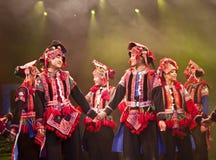 汉语跳舞种族伙计 库存图片