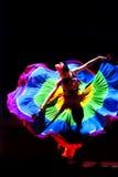 汉语跳舞种族 免版税库存图片
