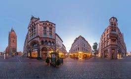 汉诺威。Marktplatz。360度全景。 库存照片