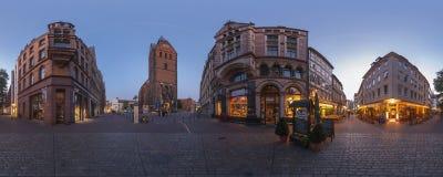 汉诺威。Marktplatz。360度全景。 免版税图库摄影
