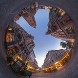 汉诺威。Marktplatz Fisheye视图。 图库摄影