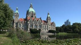 汉诺威城镇厅Neues Rathaus 股票视频