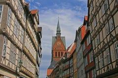 汉诺威老城镇 库存图片