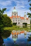 汉诺威,德国市政厅 免版税库存图片