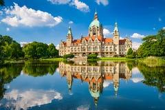 汉诺威,德国市政厅 免版税库存照片