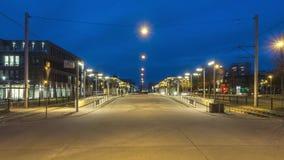 汉诺威,德国- 2017年12月29日:公共交通工具调动中止在汉诺威 4K时间间隔 影视素材