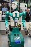 汉诺威,德国- 2018年6月13日:有人的特点的机器人ARMAR-6 免版税图库摄影