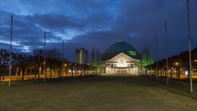 汉诺威,德国- 2018年3月01日:汉诺威国会中心HCC下萨克森州 时间间隔 股票录像