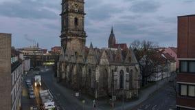 汉诺威,德国- 2018年3月01日:Aegidien教会在汉诺威,德国 时间间隔 影视素材