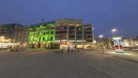汉诺威,德国- 2014年12月05日:Anzeiger-Hochhaus在汉诺威 Anzeiger高上升在1927-1928被建立了和 影视素材