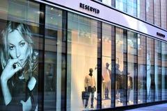 汉诺威/德国- 11/13/2017 -一个后备的商店商标的图象 免版税图库摄影