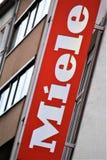 汉诺威/德国- 11/13/2017 - Miele商标的图象 免版税图库摄影