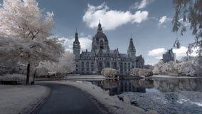 汉诺威Rathaus 免版税库存图片