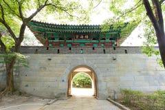 江华郡,韩国- 2015年8月17日:Samnangseong堡垒 库存图片