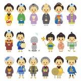 江户时代日本01的人们 皇族释放例证
