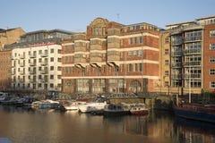 江边公寓布里斯托尔英国英国 库存照片