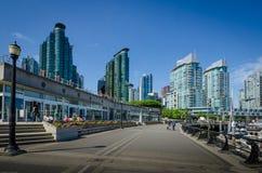 江边在温哥华,不列颠哥伦比亚省 免版税库存照片