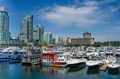 江边在温哥华,不列颠哥伦比亚省 库存照片