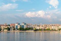 江边看法Canakkale的,土耳其 免版税图库摄影
