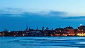 江边视图。哥本哈根,丹麦。时间间隔 股票录像