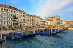 江边Riva degli Schiavoni在威尼斯,意大利 库存照片