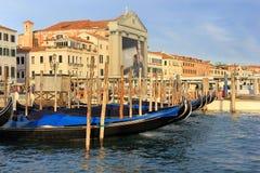 江边Riva degli Schiavoni,威尼斯,意大利 库存图片