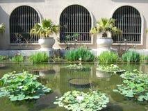 池反映 免版税图库摄影