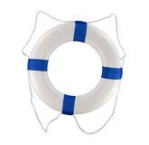 水池和小船throwable护身符漂浮蓝色圆环 库存图片