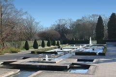 水池在制表人公园在布雷得佛英国 免版税库存照片