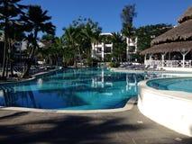 水池在旅馆里,唐璜 免版税库存图片