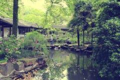 水池在湖南大学校园里  免版税库存图片