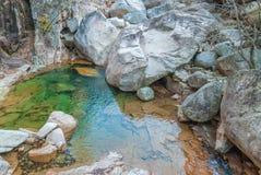 水池在雪岳山 免版税库存图片