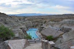 水池在Tatacoa沙漠,在Neiva,哥伦比亚 库存图片
