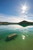 池塘和春天湖 库存照片